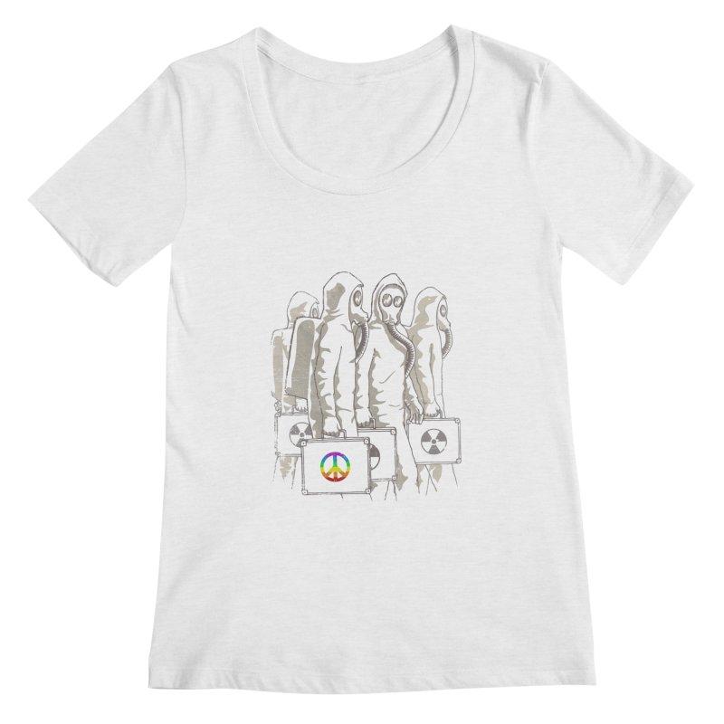 Radioactivist Women's Scoopneck by dudesign's Artist Shop