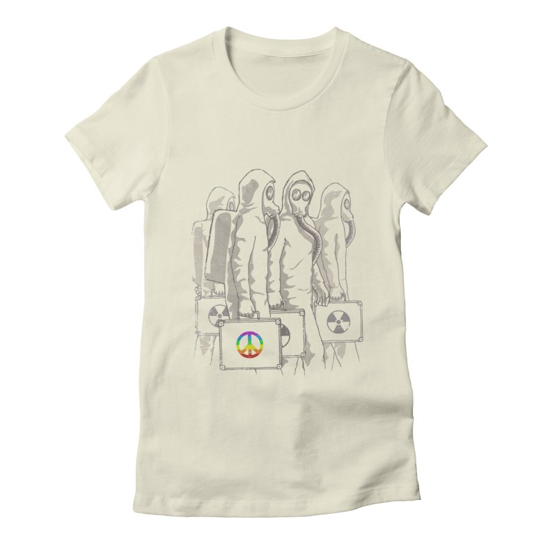 Radioactivist Women's Fitted T-Shirt by dudesign's Artist Shop