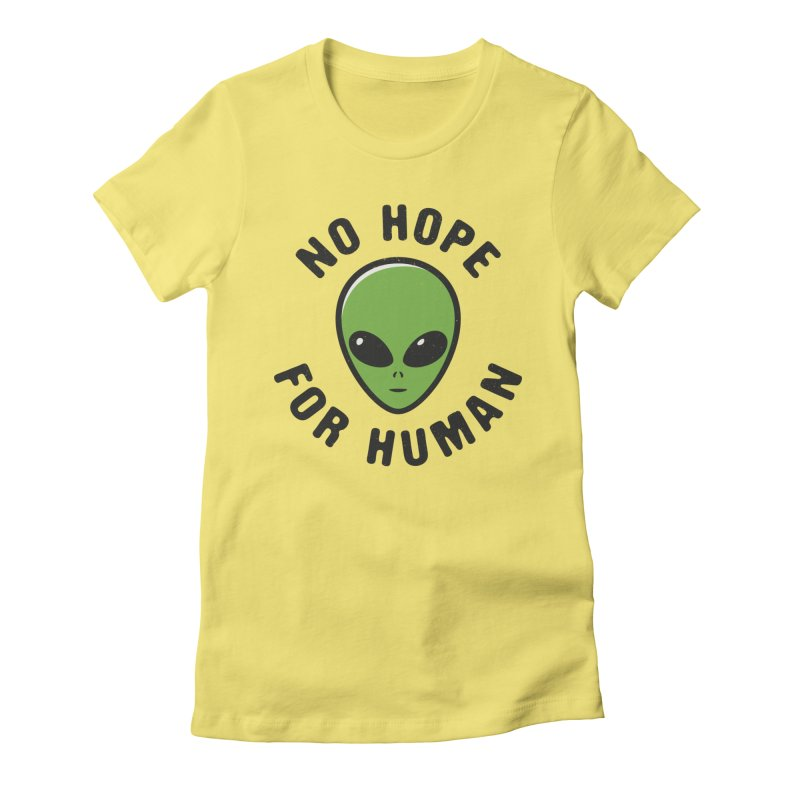 No hope Women's Fitted T-Shirt by dudesign's Artist Shop
