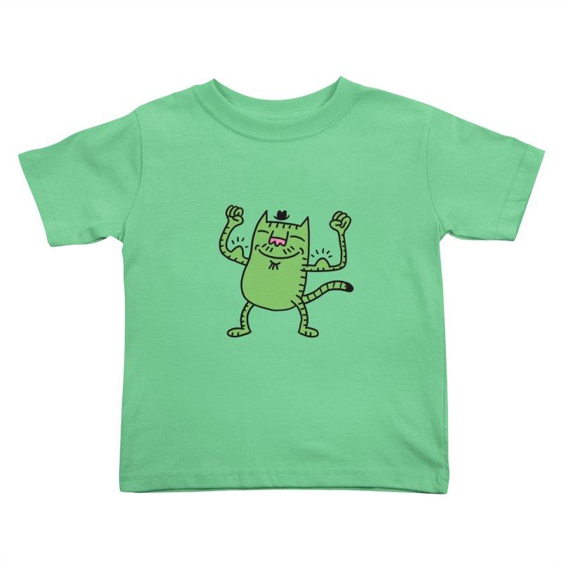 CAT POWER Kids Toddler T-Shirt by dudmatic's Artist Shop