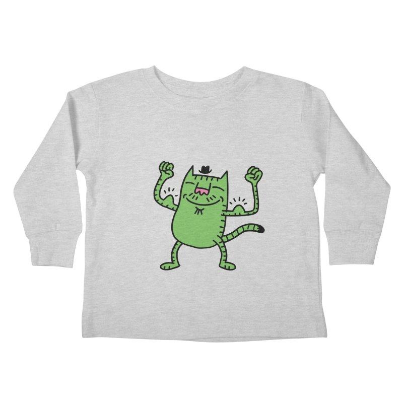 CAT POWER Kids Toddler Longsleeve T-Shirt by dudmatic's Artist Shop