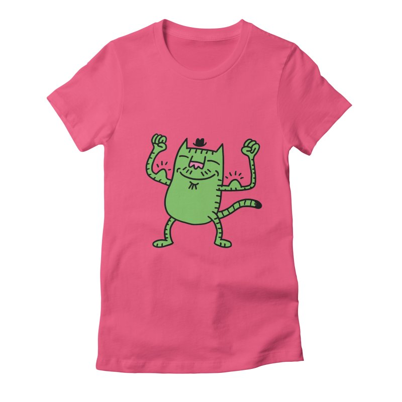 CAT POWER Women's Fitted T-Shirt by dudmatic's Artist Shop