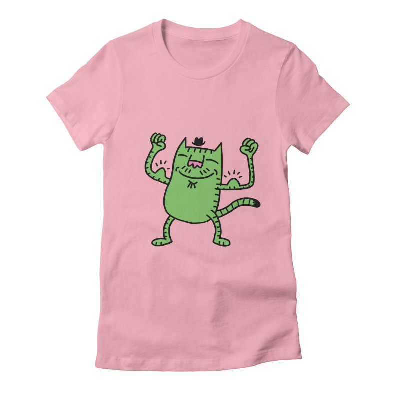 CAT POWER Women's Fitted T-Shirt by dudmatic's Artist Shop