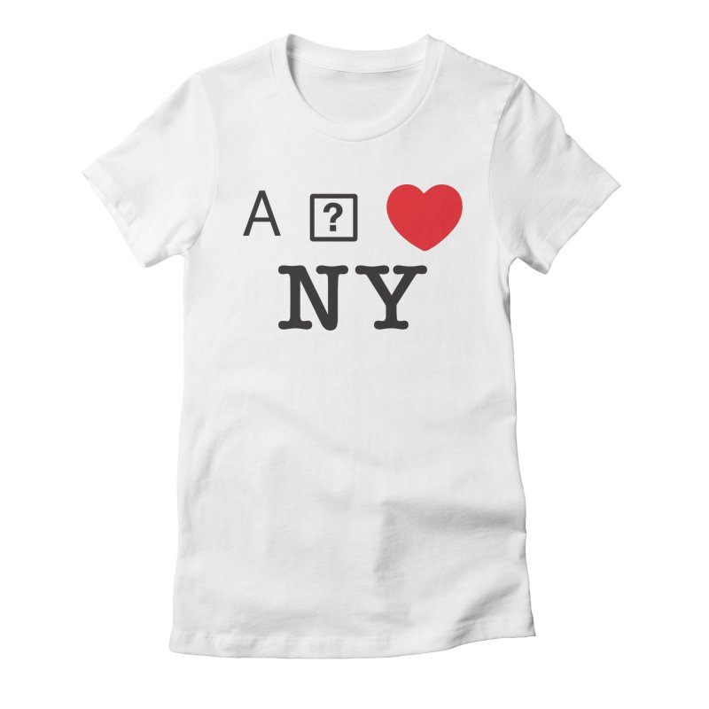 I GLITCH NY Women's Fitted T-Shirt by dudmatic's Artist Shop