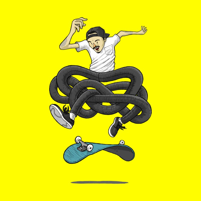 Gnarly Skater Home Fine Art Print by dukenny's Artist Shop