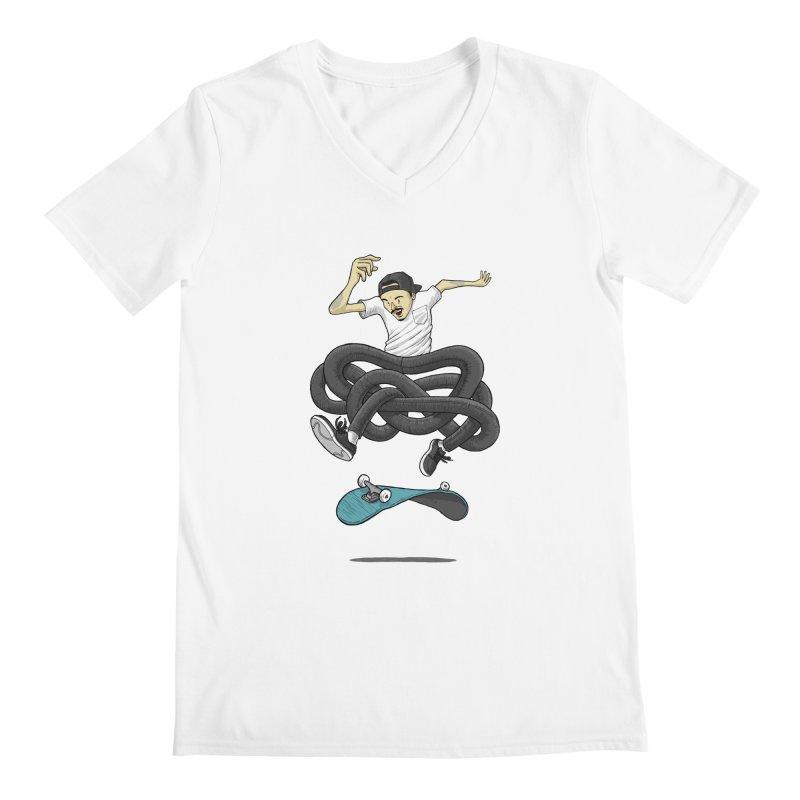 Gnarly Skater Men's V-Neck by dukenny's Artist Shop