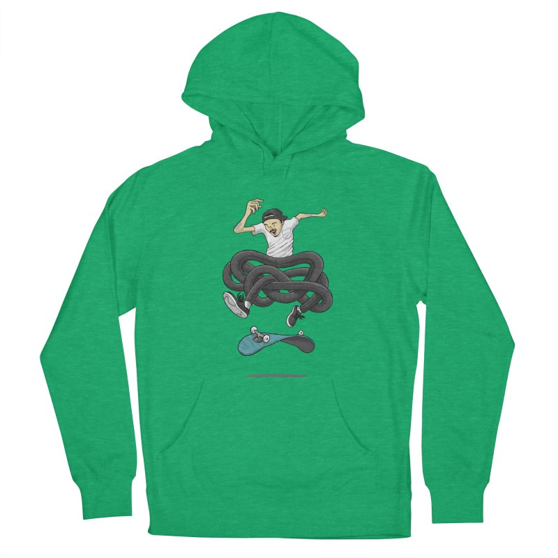Gnarly Skater Men's French Terry Pullover Hoody by dukenny's Artist Shop