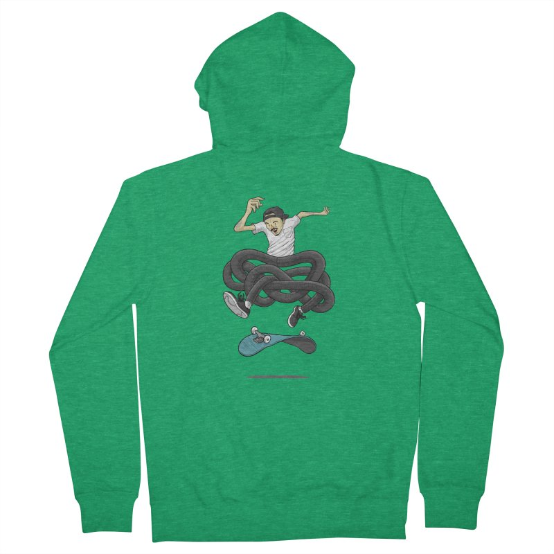 Gnarly Skater Men's French Terry Zip-Up Hoody by dukenny's Artist Shop