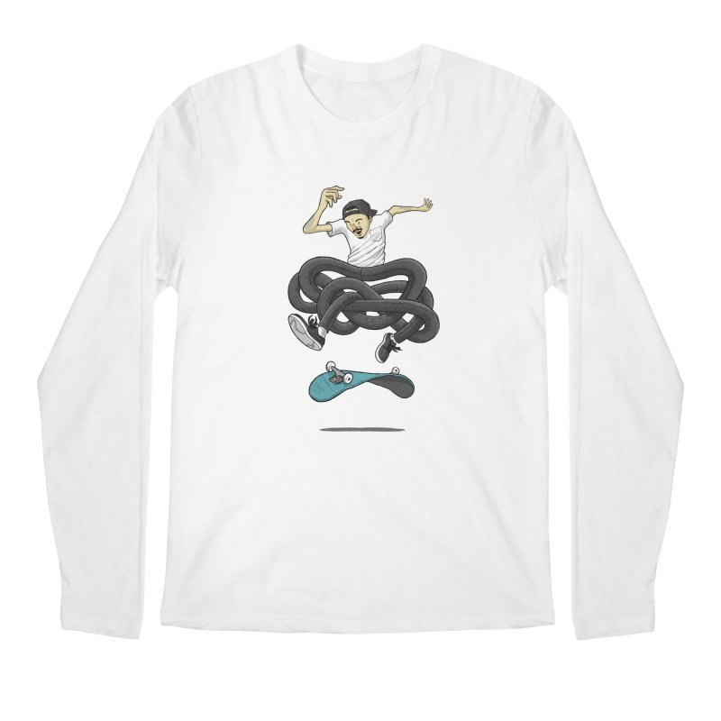 Gnarly Skater Men's Regular Longsleeve T-Shirt by dukenny's Artist Shop