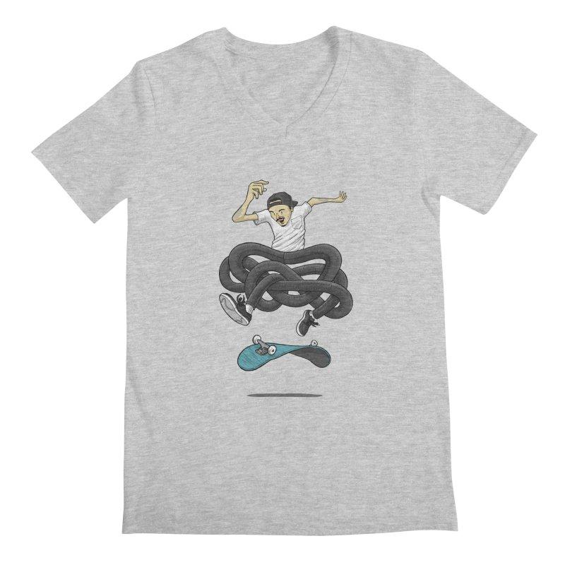 Gnarly Skater Men's Regular V-Neck by dukenny's Artist Shop