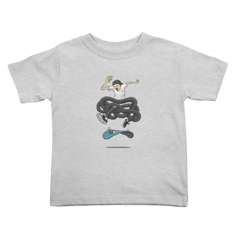 Gnarly Skater Kids Toddler T-Shirt by dukenny's Artist Shop