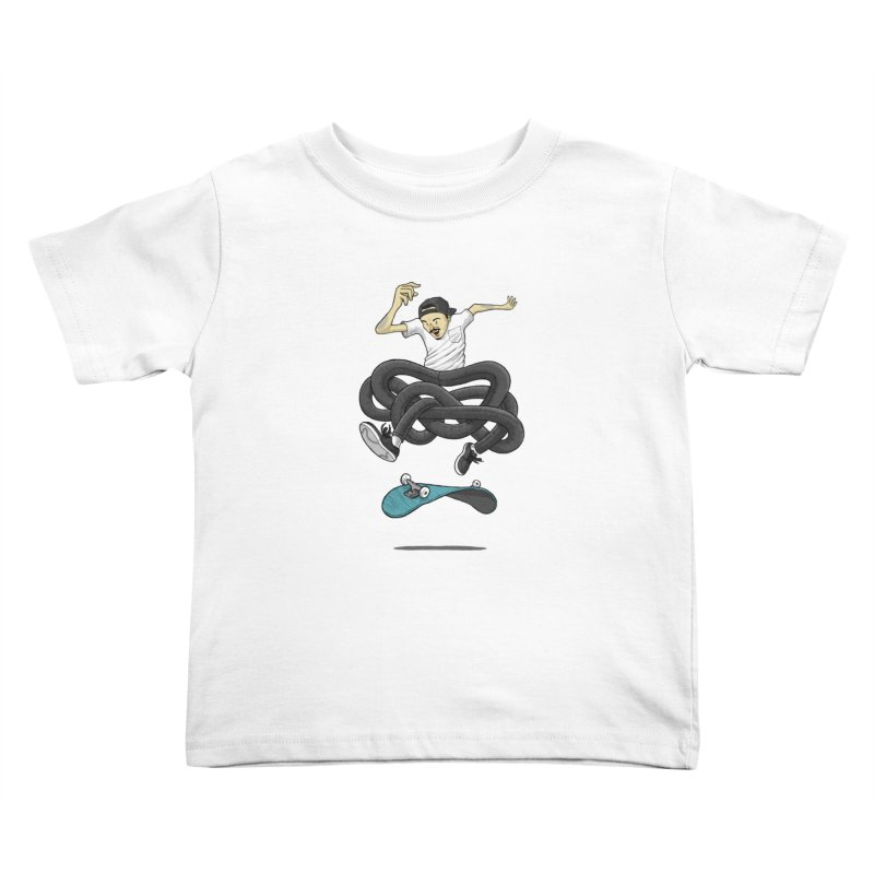 Gnarly Skater Kids Toddler T-Shirt by dukenny's Artist Shop