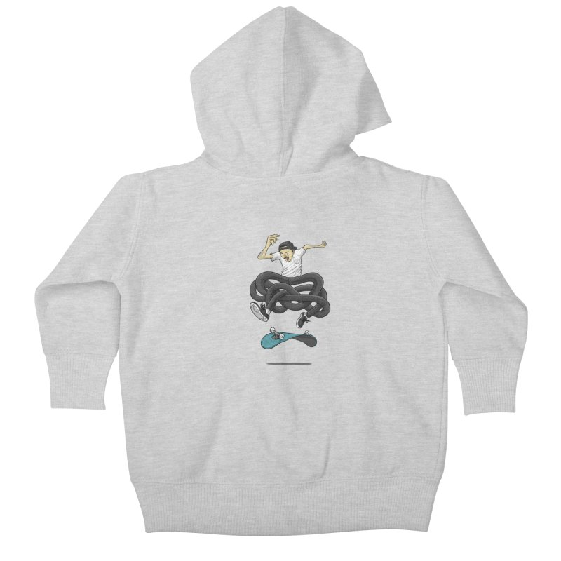 Gnarly Skater Kids Baby Zip-Up Hoody by dukenny's Artist Shop