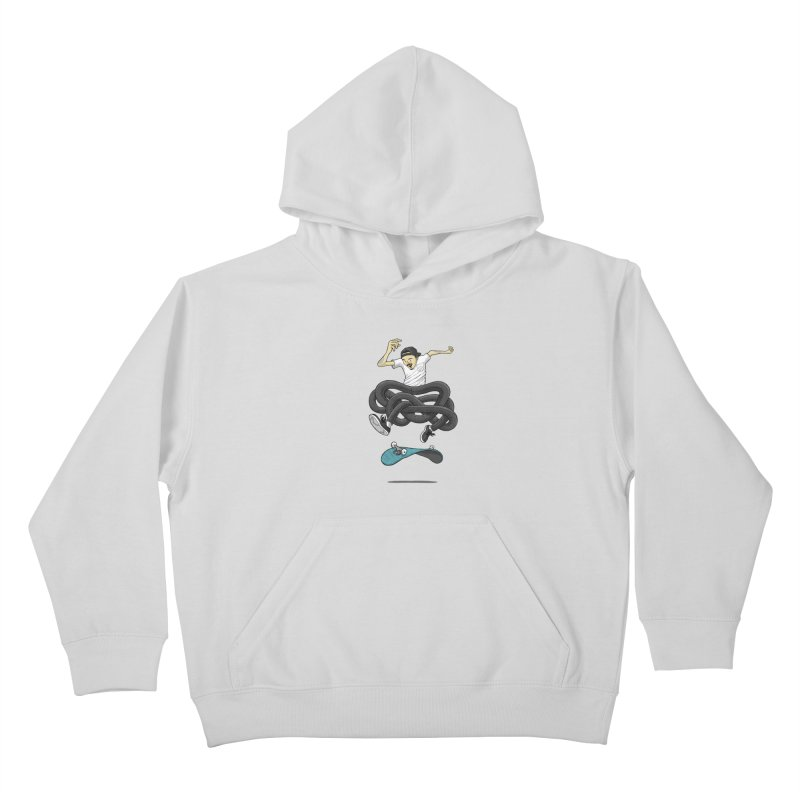 Gnarly Skater Kids Pullover Hoody by dukenny's Artist Shop