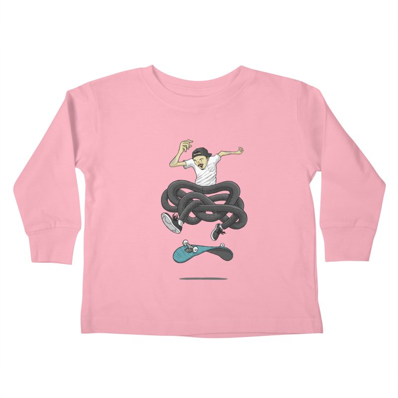 Gnarly Skater Kids Toddler Longsleeve T-Shirt by dukenny's Artist Shop