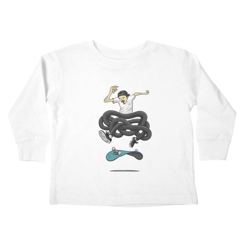Gnarly Skater Kids Toddler Longsleeve T-Shirt by dukenny's Artist Shop