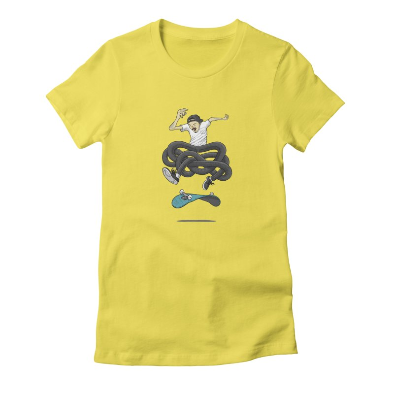 Gnarly Skater Women's T-Shirt by dukenny's Artist Shop