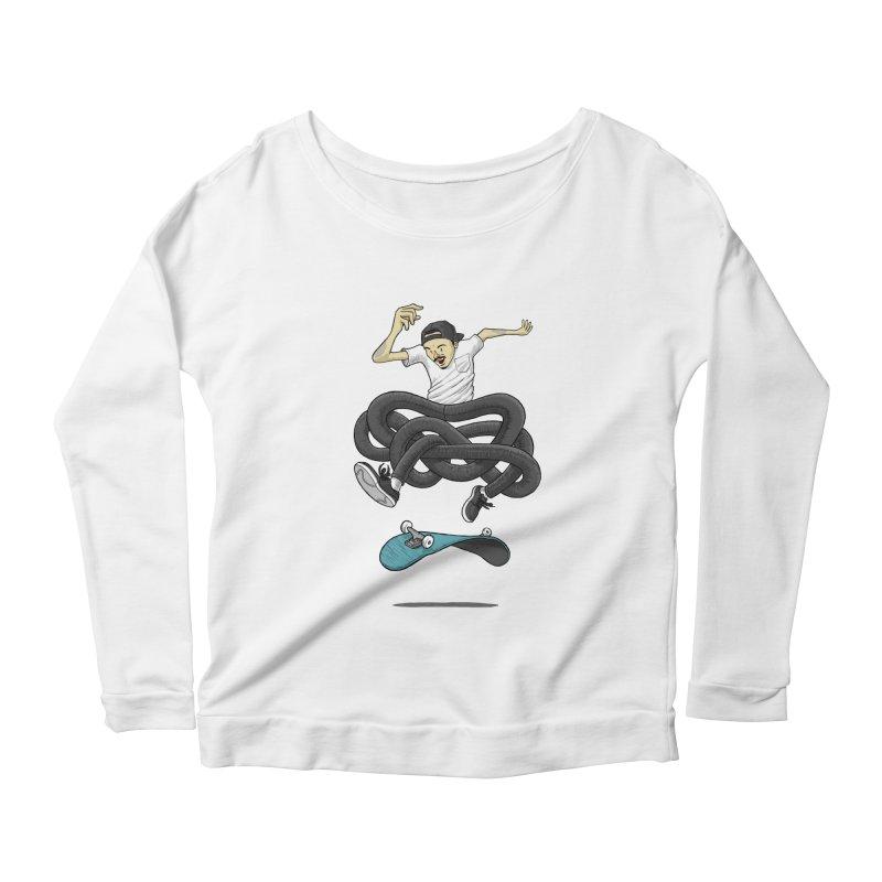 Gnarly Skater Women's Scoop Neck Longsleeve T-Shirt by dukenny's Artist Shop