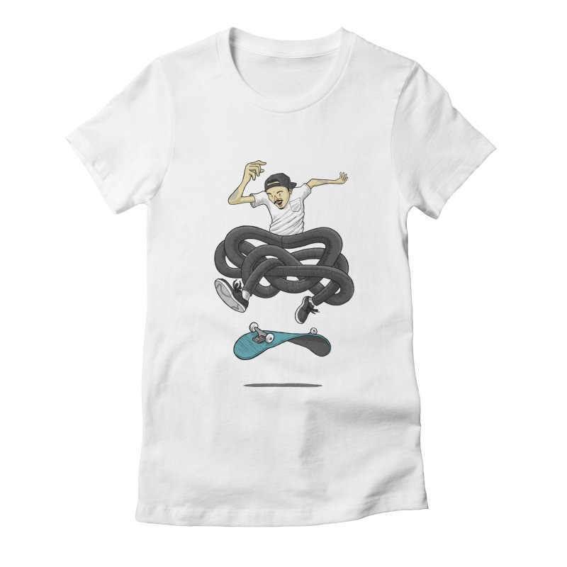 Gnarly Skater Women's Fitted T-Shirt by dukenny's Artist Shop
