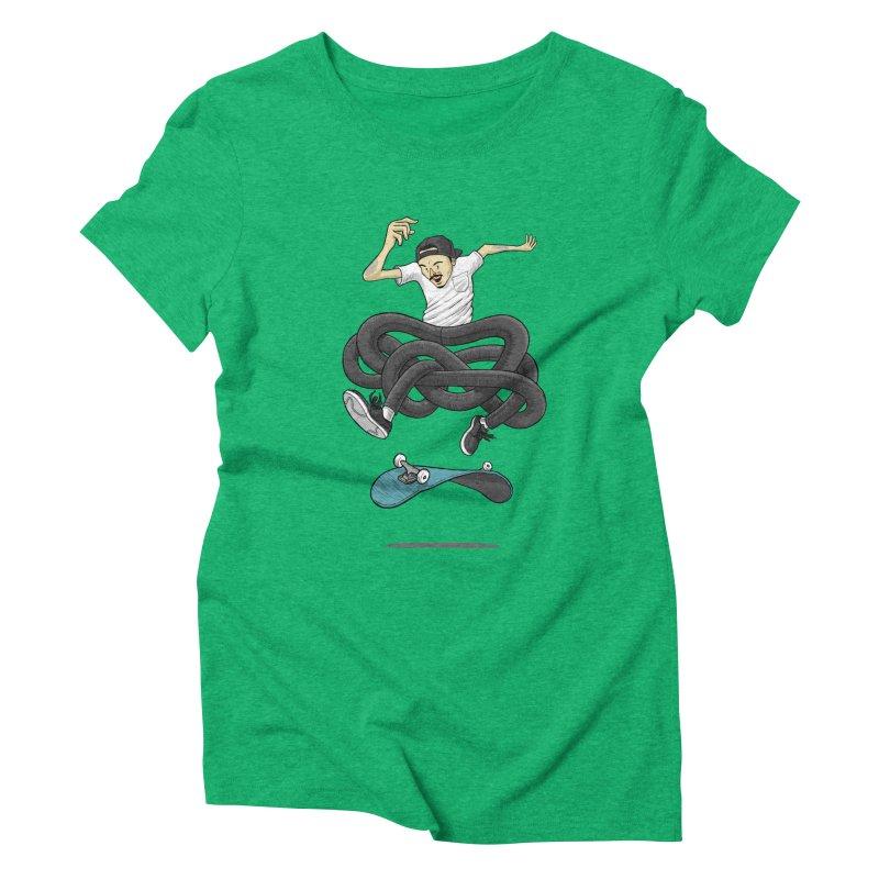 Gnarly Skater Women's Triblend T-Shirt by dukenny's Artist Shop