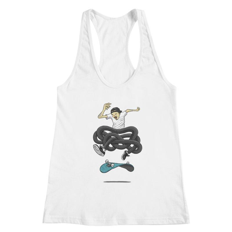 Gnarly Skater Women's Racerback Tank by dukenny's Artist Shop
