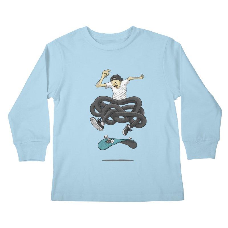 Gnarly Skater Kids Longsleeve T-Shirt by dukenny's Artist Shop