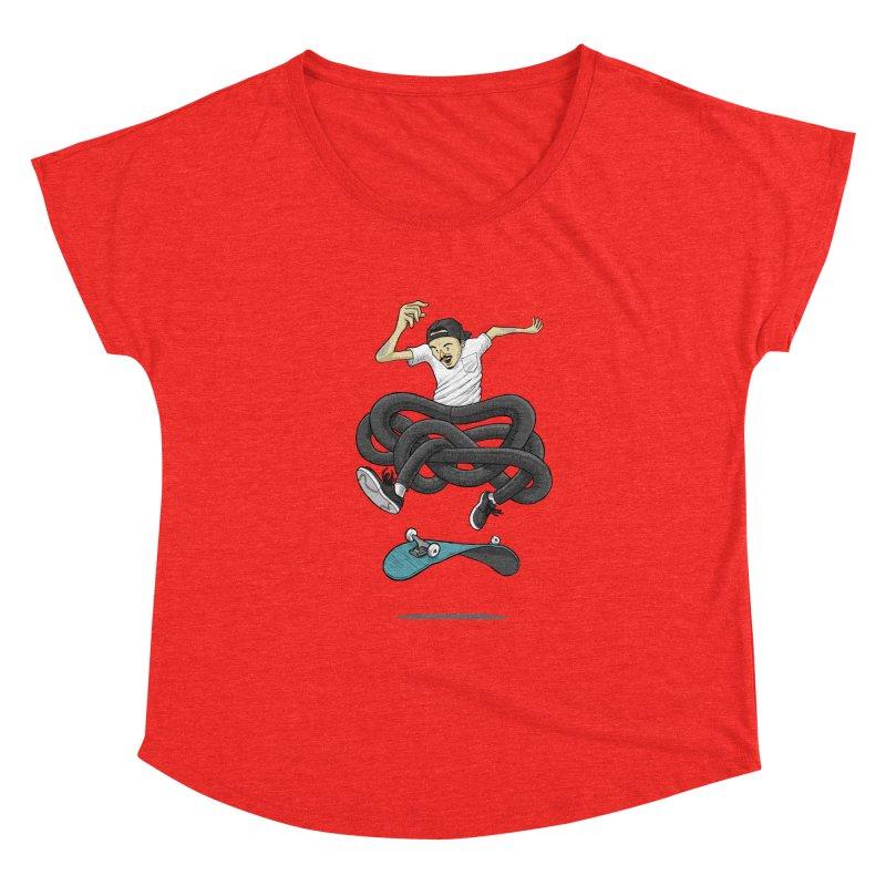 Gnarly Skater Women's Scoop Neck by dukenny's Artist Shop
