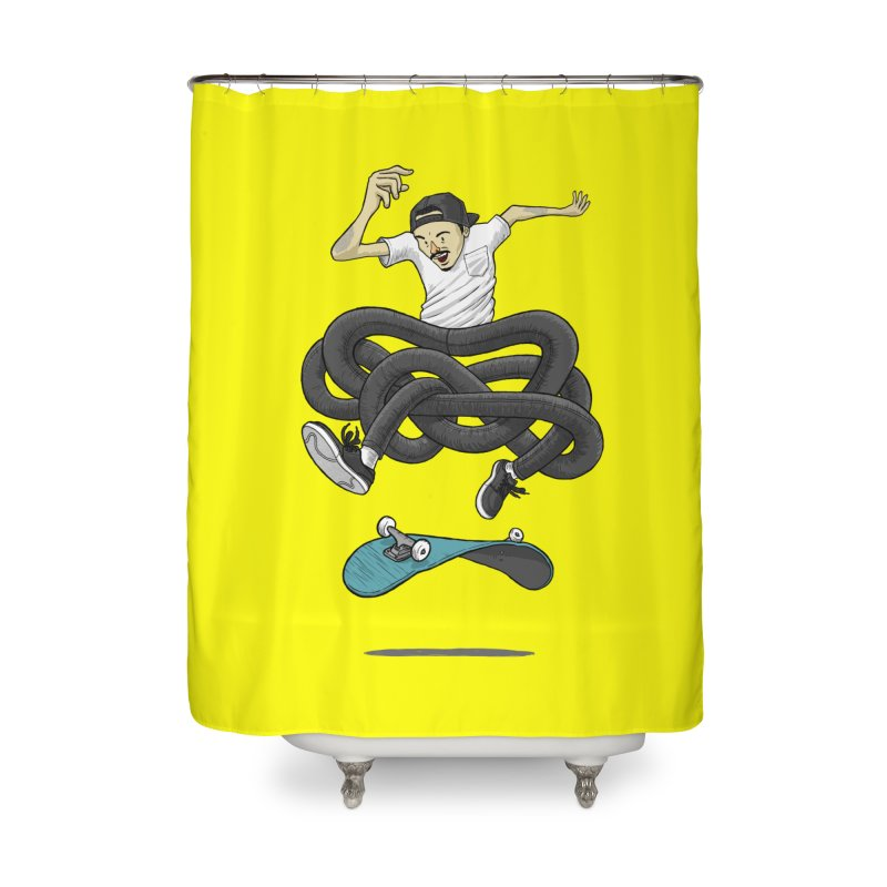 Gnarly Skater Home Shower Curtain by dukenny's Artist Shop