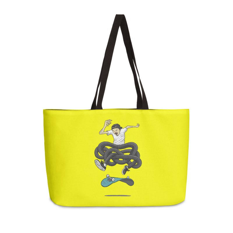 Gnarly Skater Accessories Weekender Bag Bag by dukenny's Artist Shop