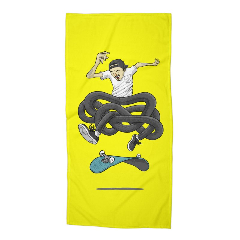 Gnarly Skater Accessories Beach Towel by dukenny's Artist Shop