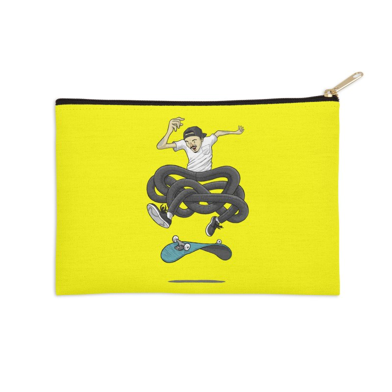 Gnarly Skater Accessories Zip Pouch by dukenny's Artist Shop