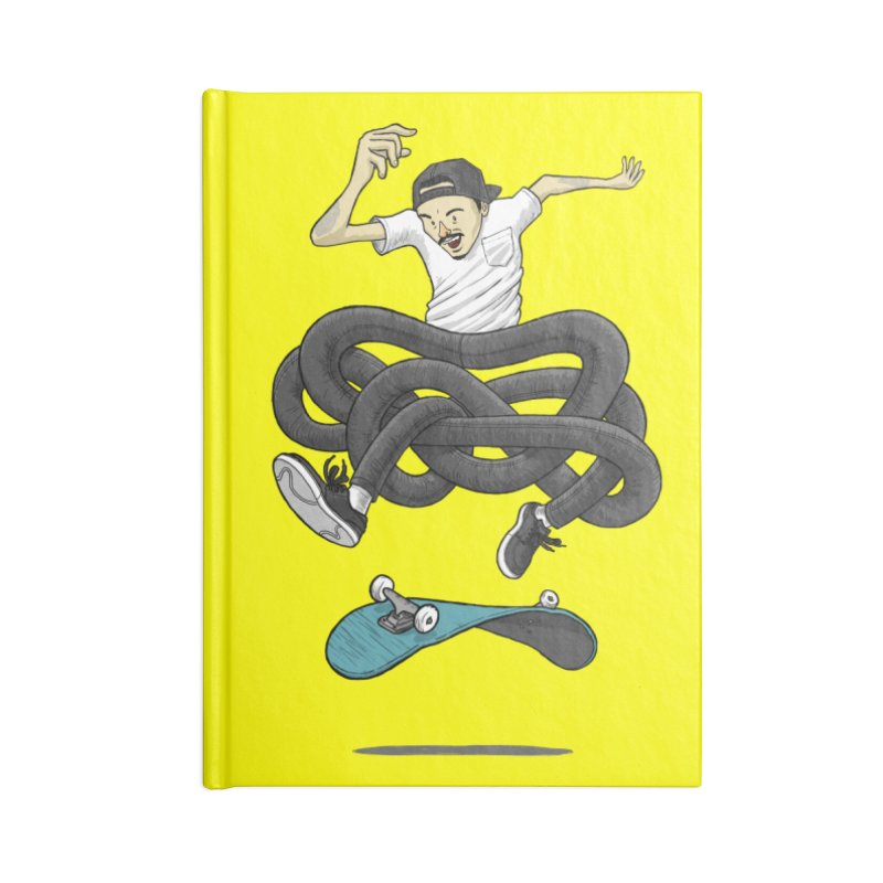 Gnarly Skater Accessories Blank Journal Notebook by dukenny's Artist Shop