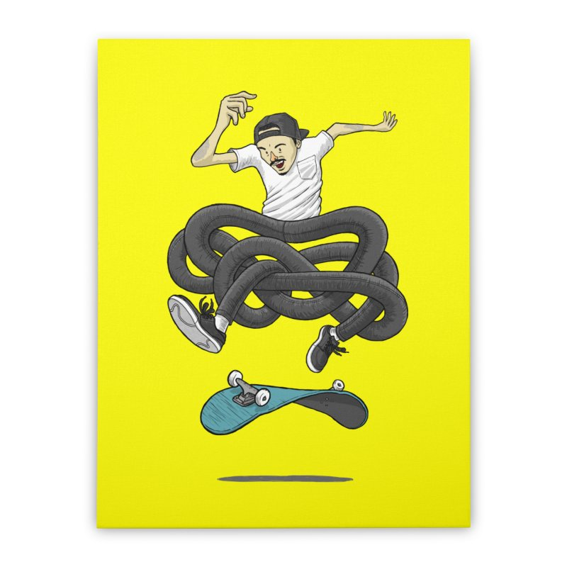 Gnarly Skater Home Stretched Canvas by dukenny's Artist Shop