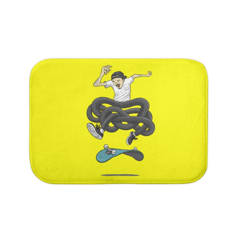 Gnarly Skater Home Bath Mat by dukenny's Artist Shop