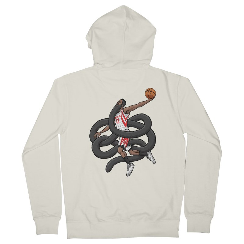 Gnarly Beard Men's French Terry Zip-Up Hoody by dukenny's Artist Shop