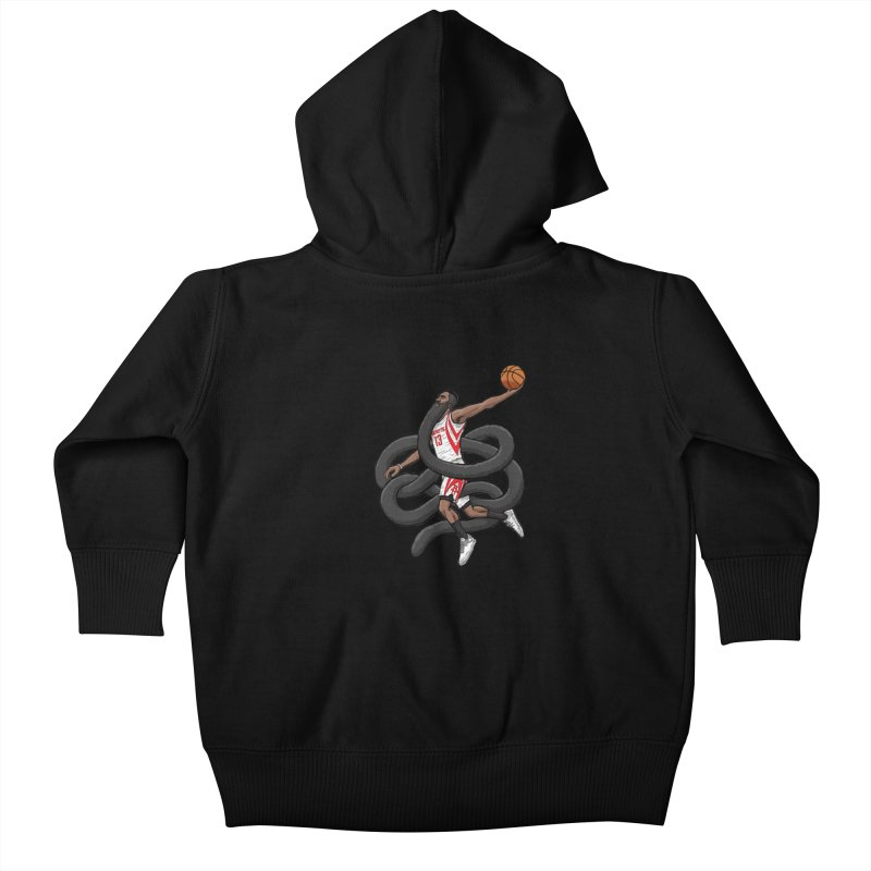 Gnarly Beard Kids Baby Zip-Up Hoody by dukenny's Artist Shop