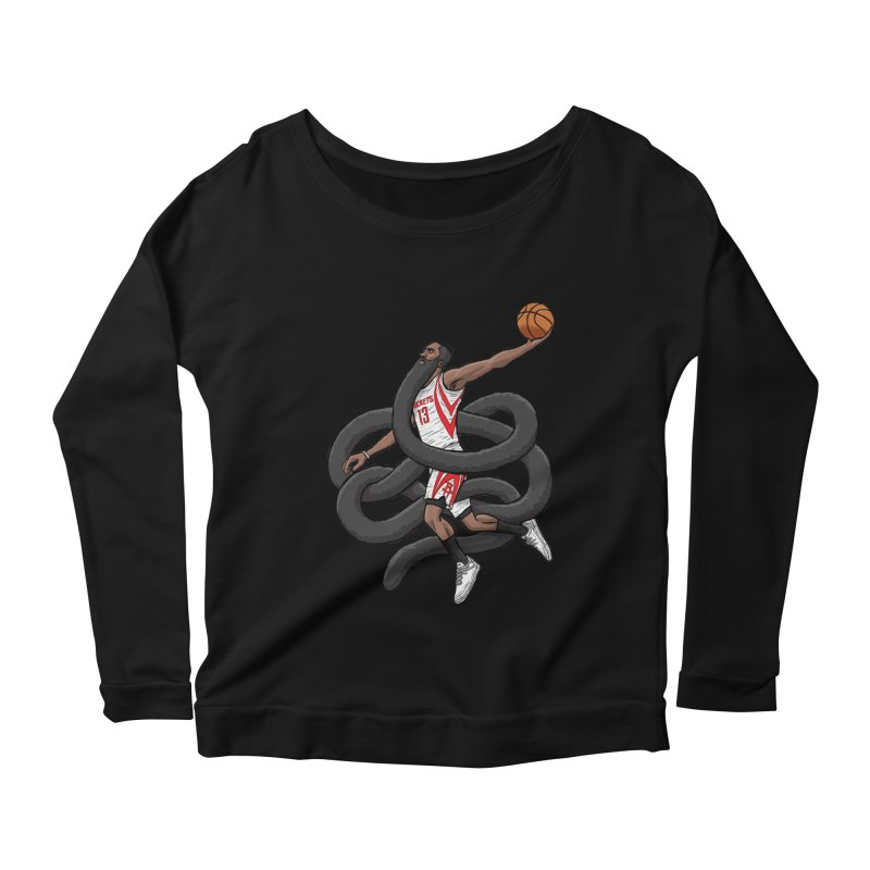 Gnarly Beard Women's Longsleeve Scoopneck  by dukenny's Artist Shop