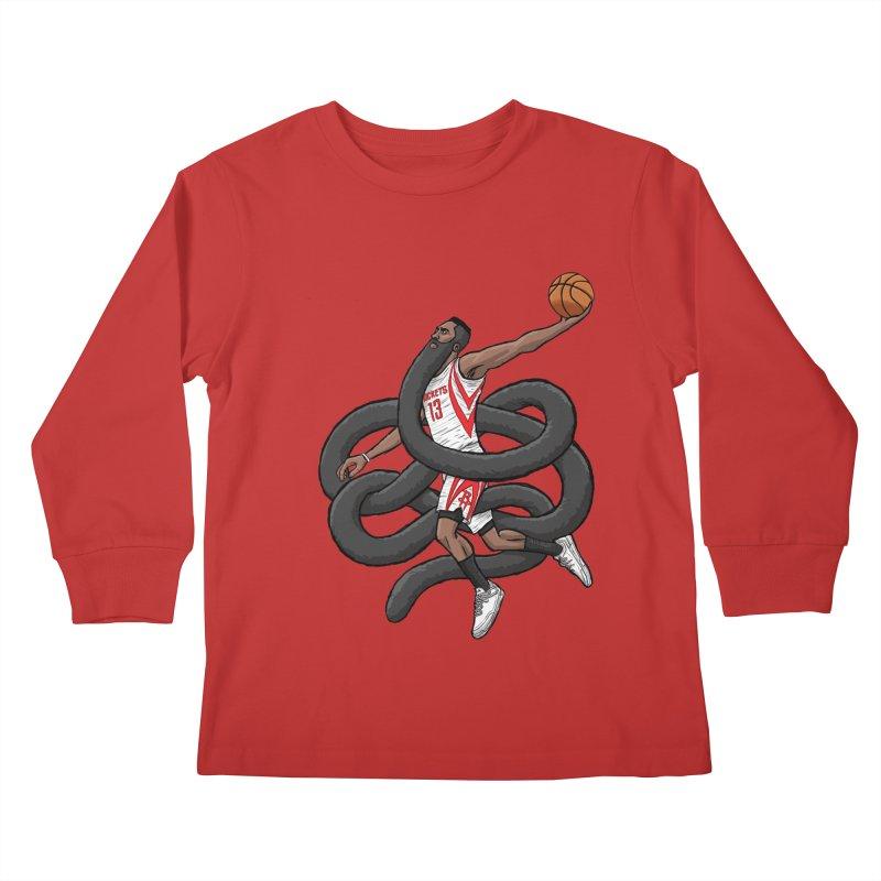 Gnarly Beard Kids Longsleeve T-Shirt by dukenny's Artist Shop