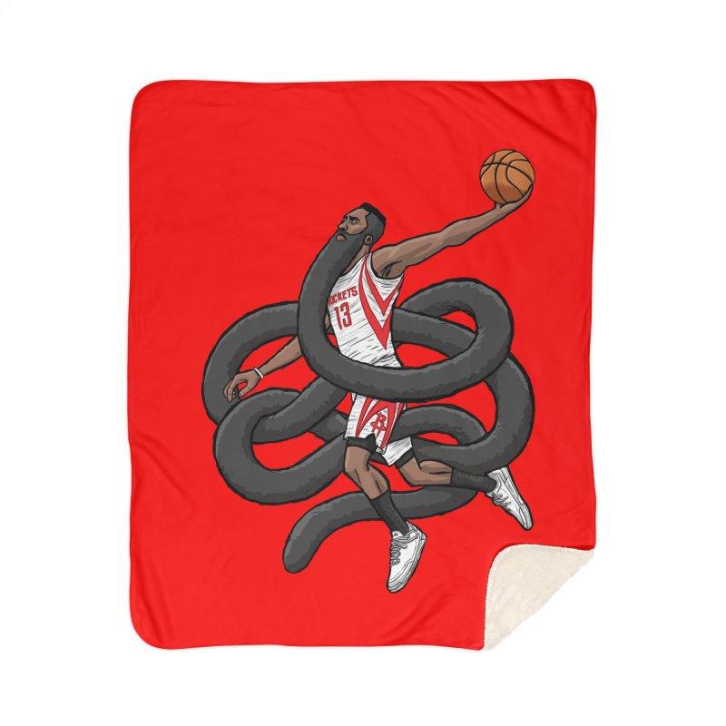 Gnarly Beard Home Sherpa Blanket Blanket by dukenny's Artist Shop