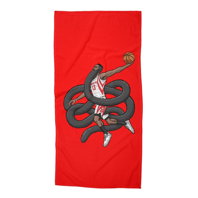 Gnarly Beard Accessories Beach Towel by dukenny's Artist Shop