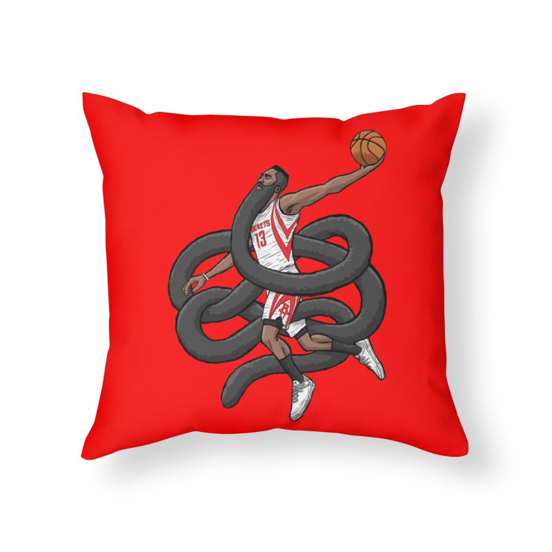 Gnarly Beard Home Throw Pillow by dukenny's Artist Shop