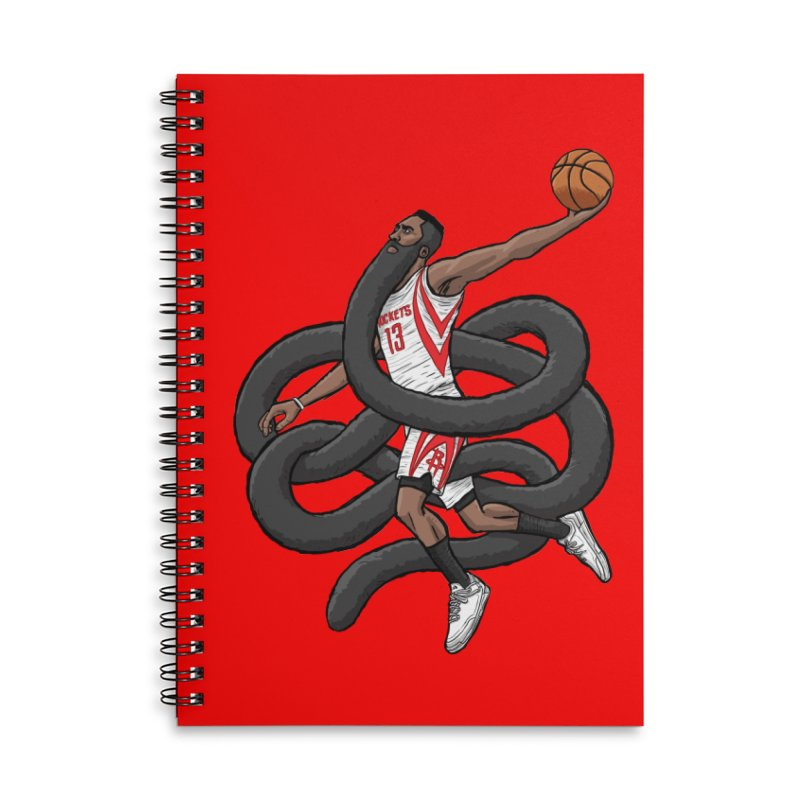 Gnarly Beard Accessories Lined Spiral Notebook by dukenny's Artist Shop
