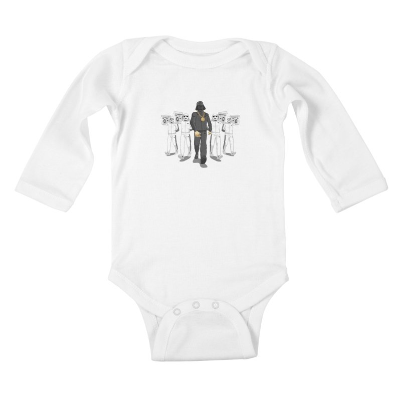 Straight Outta The Dark Side Kids Baby Longsleeve Bodysuit by dukenny's Artist Shop