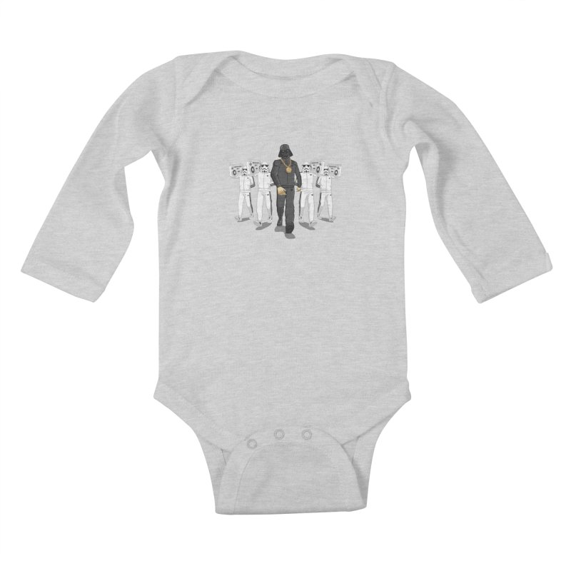 Straight Outta The Dark Side Kids Baby Longsleeve Bodysuit by dukenny's Artist Shop