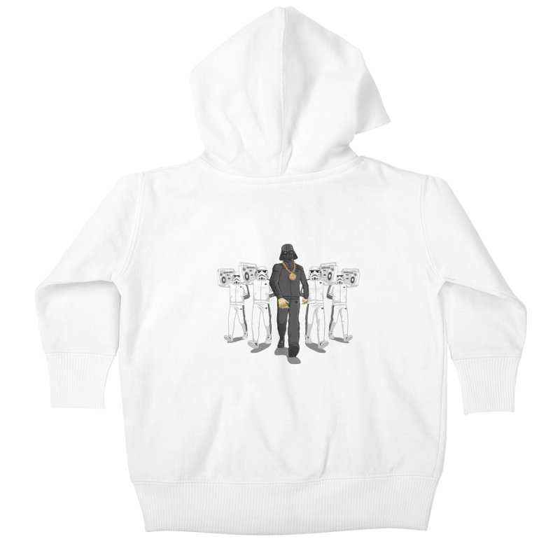 Straight Outta The Dark Side Kids Baby Zip-Up Hoody by dukenny's Artist Shop
