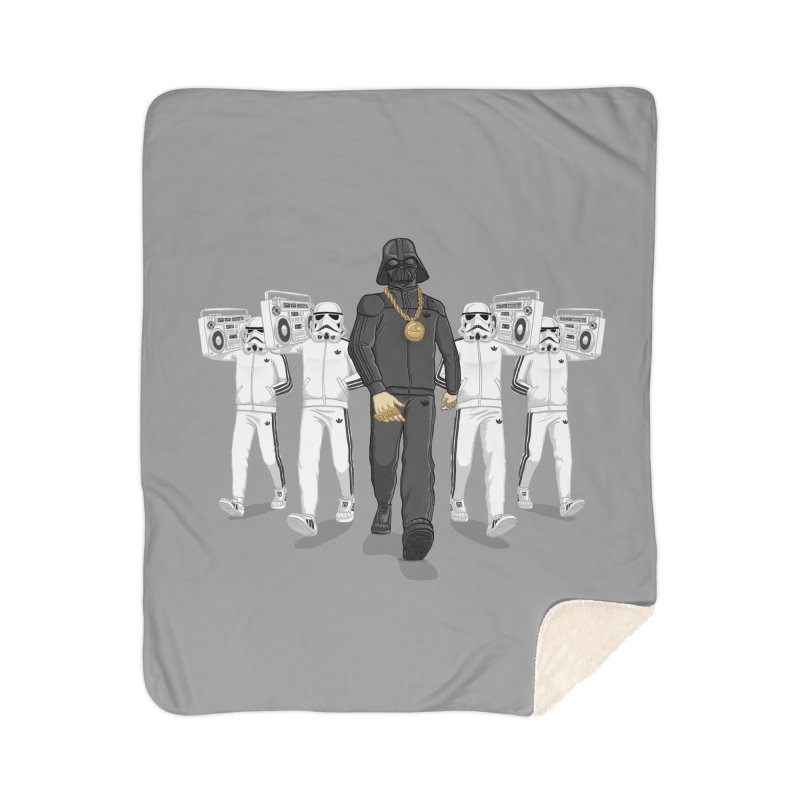 Straight Outta The Dark Side Home Sherpa Blanket Blanket by dukenny's Artist Shop