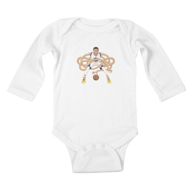 Gnarly Curry Kids Baby Longsleeve Bodysuit by dukenny's Artist Shop