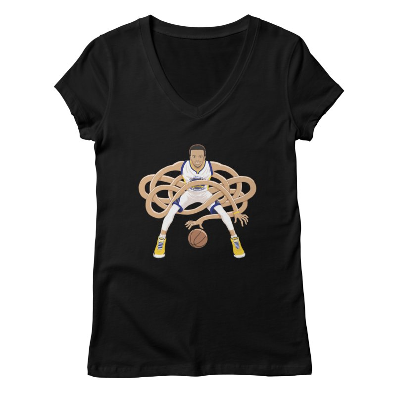 Gnarly Curry Women's V-Neck by dukenny's Artist Shop