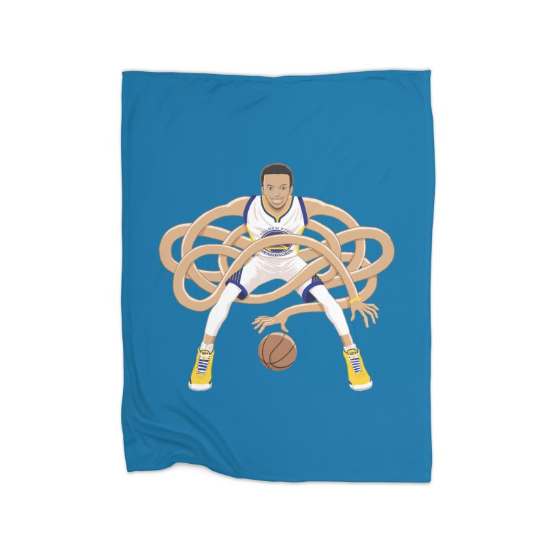 Gnarly Curry Home Fleece Blanket Blanket by dukenny's Artist Shop