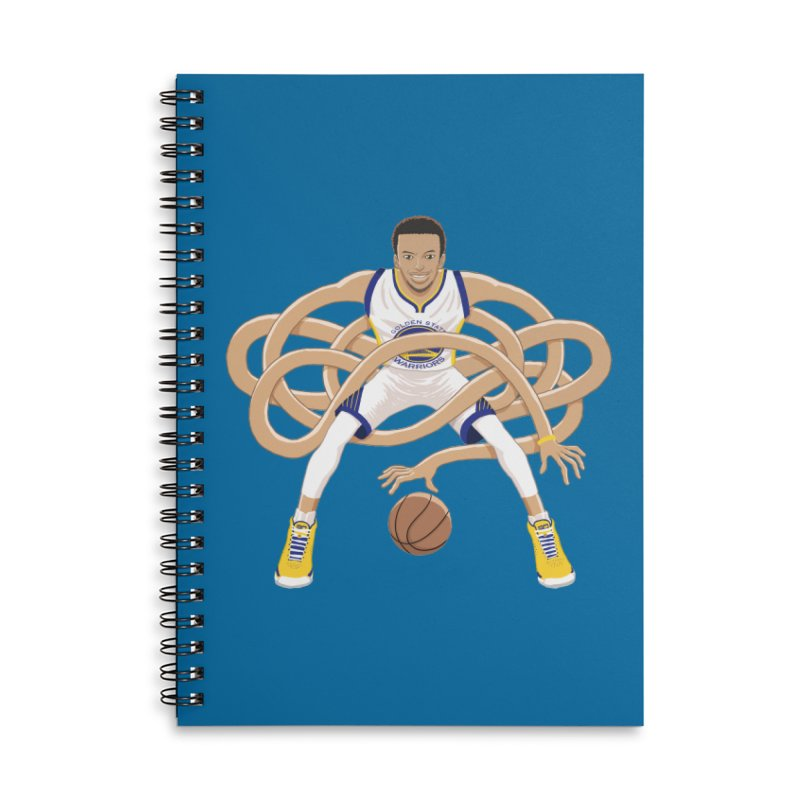 Gnarly Curry Accessories Lined Spiral Notebook by dukenny's Artist Shop